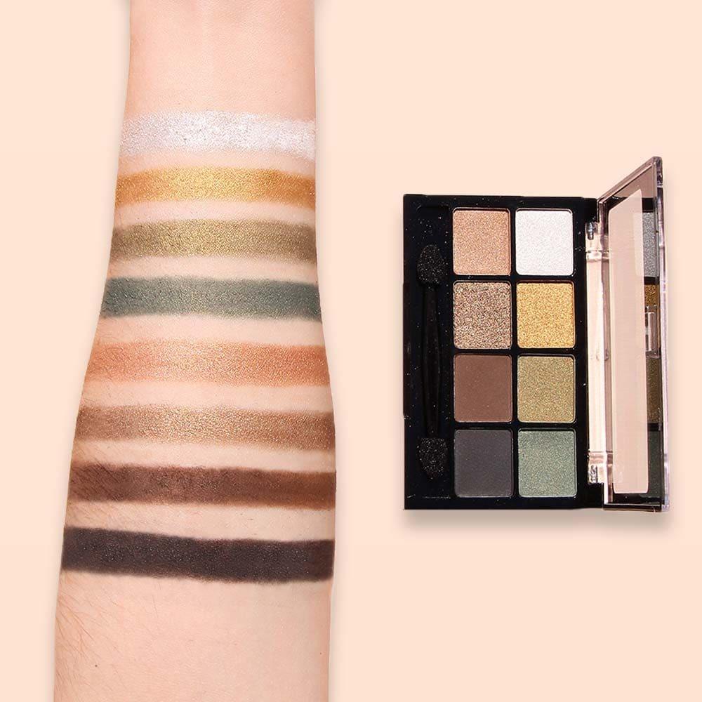 Fard à paupière Irisé & Mat - Palette 8 couleurs Camo Couture