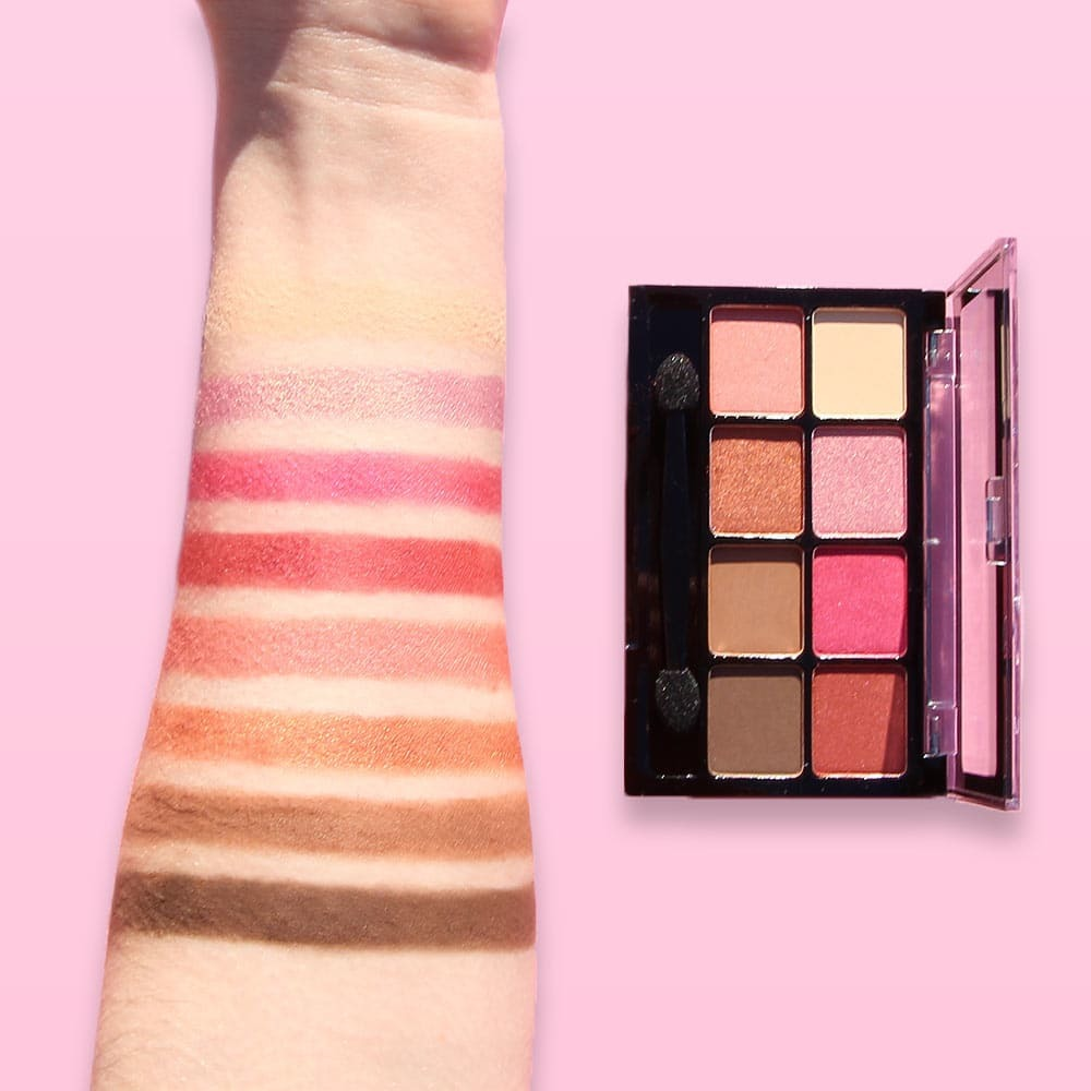 Fard à paupière Irisé & Mat - Palette 8 couleurs Think Pink